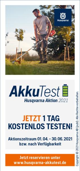 Husqvarna Akku Test Aktion
